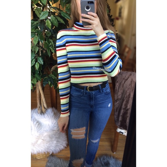 a90ed2d5ea0 ... Striped Turtleneck Crop Sweater. M 5c2d712445c8b3b25117cc5c
